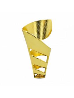 """X404D  Puchar """"HIT CENOWY""""  kolor złoto-srebrny  H-240 mm R-80 mm (tab. 60x25 mm)"""
