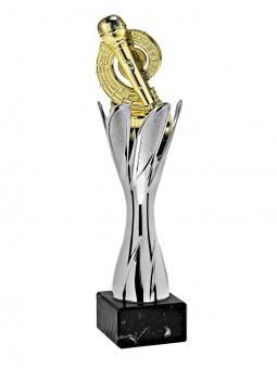 "X632D  Puchar wycinany "" COSMO""  kolor złoty - rozmiar  H-480mm, R-140mm (tab. 75x40 mm)"